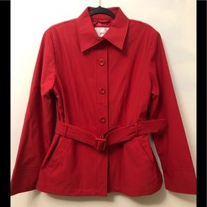 Weatherproof Red Belted Trench Coat Large